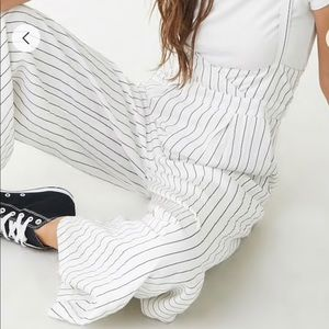 Pinstriped Suspender Jumpsuit (NWT)